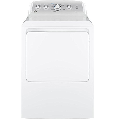 GE GTD45EASJWS Aluminized Alloy Drum Electric Dryer with HE Sensor Dry, 7.2 Cu. Ft. Capacity, White