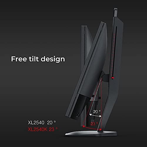 BenQ ZOWIE XL2540K 24,5 Zoll 240 Hz Gaming-Monitor   Kompakter Sockel   Flexible Höhen- und Neigungseinstellung   XL Setting to Share   Anpassbares Quick