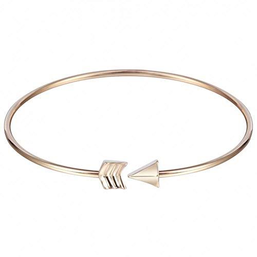 DMUEZW Gold Silber Pfeil armreif Manschette armbänder für Frauen edlen schmuck armreifen