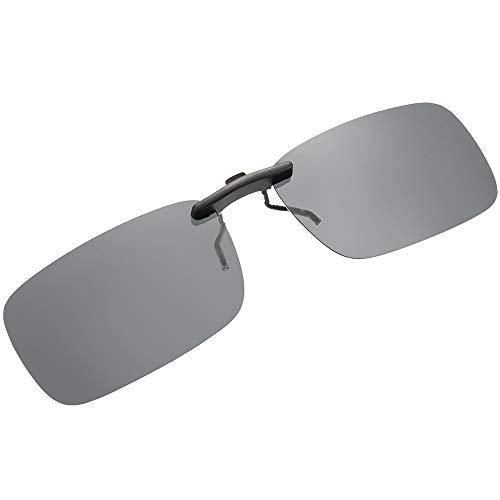 SKYSPER Gafas de Sol Polarizadas Clip Lentes de Espejo de Retro Vintaje Marco de Metal Hombre Mujer Unisex Deportes