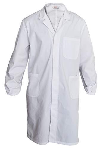 Camice Bianco da Laboratorio e Lavoro Uomo Donna - Grembiule (Bianco, XL)