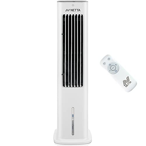 NETTA 3 In 1 Air Cooler with Remote Control, LED Display, 3 Fan Speed Oscillation Function, 7 Hour Timer 2 Ice Packs, 55W
