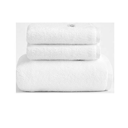 NAFE Toalla de baño Grupos de 3 Toallas, 1 Toalla de baño Toalla de Mano 2, de usos múltiples para baño, Hotel, Gimnasio, SPA y Playa, 100% algodón, absorbentes de Alta White