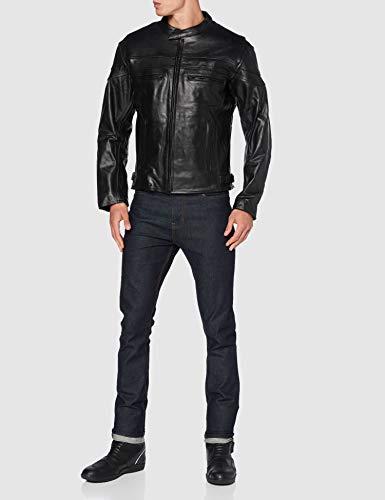 STURGIS (Monza Naked Rindsleder CE und belüftet Motorrad Jacke schwarz schwarz XXXX-Large - 2