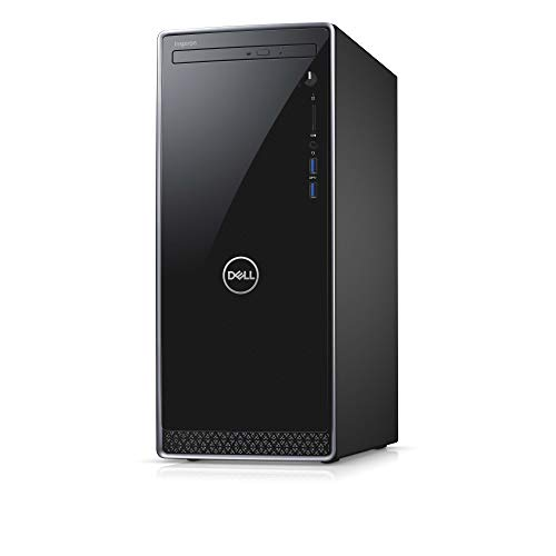 Dell Inspiron 3000 Desktop with a Wired Mouse and UK Keyboard - (Black/Silver Trim) (Intel Core i5-9400, 8 GB RAM, 256 GB SSD + 1 TB HDD, Disk Drive, Windows 10)