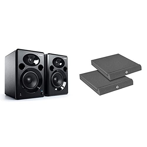 Alesis Elevate 5 MKII - Casse PC Attivi da Scrivania con Audio Professionale per Home Studio, Editing Video & Adam Hall Stands Pad Eco Serie spadeco2Absorber per monitor da studio