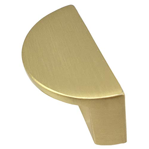 "1 1/4"" 2 1/2"" C-C Half Moon Drawer Pull Handles Dresser Pulls Cabinet Handle Brushed Gold Nickel Black Chrome Bronze 1.25"" 2.5"" 32 64 mm Centers (L:1.5"" (40 mm) / C-C:1.25"" (32 mm), Brushed Gold)"