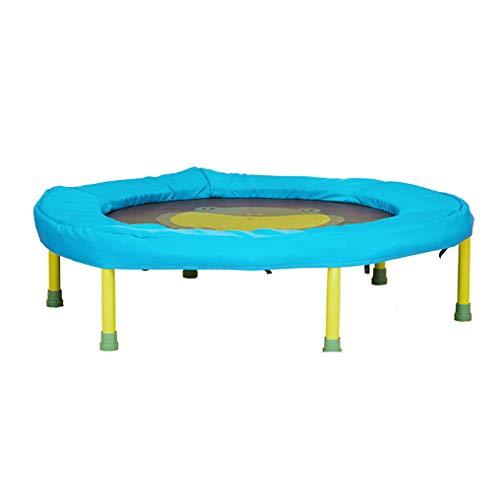 JCJ Draagbare trampoline, huishoudelijke kinderen fitness trampoline zeshoekige ondersteuning mini trampoline, geschikt voor 2~6 jaar oude baby, bounce bed kan dragen 26kg (L×W×H) 35.4×24.8×9.5inch