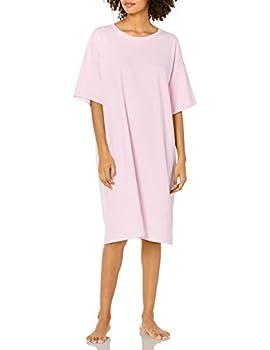 Hanes Women s Wear Around Nightshirt Pale Pink One Size