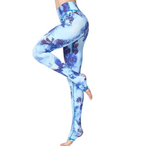 EMPERSTAR Pantalones De Yoga para Mujer Leggings De Yoga Impresos Leggings De Entrenamiento Capris De Cintura Alta para Correr Fitness L