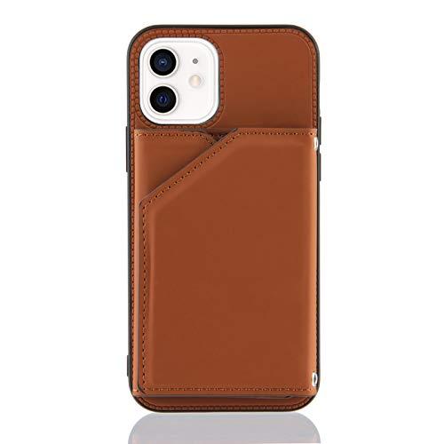 Custodia a portafoglio per iPhone 12 Mini (5,4 pollici), colore: cachi