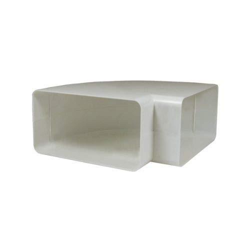 EASYTEC® Flachkanal 90° Bogen waagerecht | System 180 x 95 mm | Kunststoff Rohrbogen waagerecht flach auf flach für Dunstabzugshauben