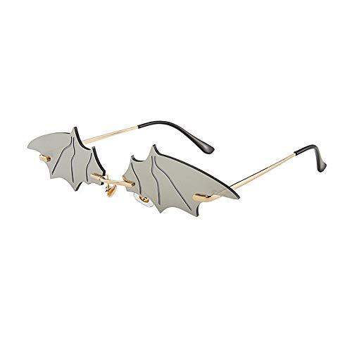 Polarisierte Sonnenbrille,Mode Weißwasser Silber Batman Farbverlauf Spiegel Komfort Sonnenbrille Uv400 Zum Laufen Radfahren Angeln Fahren Golf Casual Sportbrillen