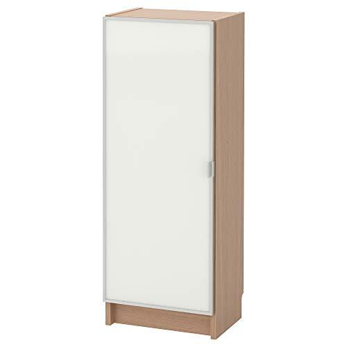 BILLY/MORLIDEN estantería con puerta de cristal 40x30x106 cm chapa de roble blanco manchado de vidrio/vidrio