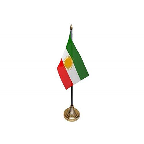Pack van 3 Koerdische Koerdische Desktop Tafel Middenstuk Vlag Vlaggen Met Gouden Bases Ideaal Voor Party Conferences Kantoorweergave
