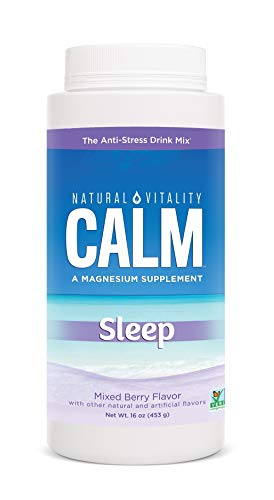 Natural Vitality Natural Calm Calmful Sleep Magnesium Anti Stress Extra Sleep Support, Mixed Berry, 16 oz (Packaging May Vary)