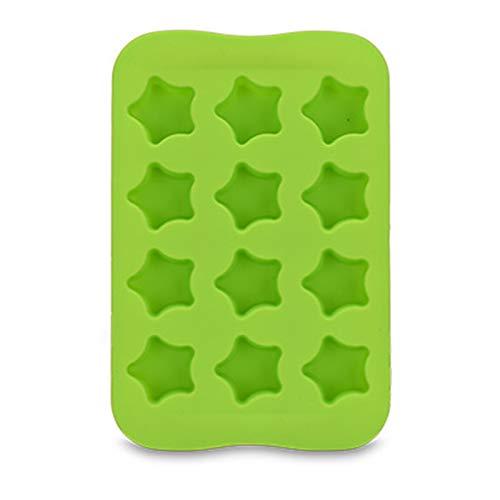 LDH 4-Pack Es Suave Bandeja de Hielo de Silicona Bandejas de Cubo de Hielo de 12 Células, Bandeja de Hielo Se Pueden Reutilizar, Duraderas, de Fácil Liberación, Fácil de Limpiar (Color : A)