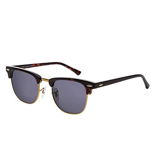 LDH Gafas De Sol Retro, Gafas De Sol Polarizadas para Hombres, Gafas De Sol Polarizadas Metal Ligeras con Protección contra UV Gafas Al Aire Libre (Color : A)