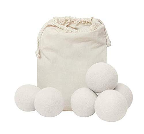 ECO Friendly 6er Pack wiederverwendbare Wolltrockner Bälle 100% natürliche organische Wollwäschetrockner Filz weiche Bälle - wiederverwendbarer natürlicher Weichspüler für die Wäsche