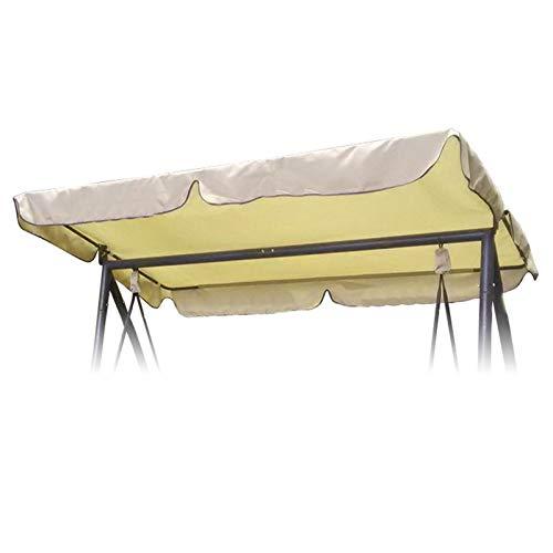 OTOTEC - Copertura per dondolo da esterno, impermeabile, per portico, copertura superiore per mobili e sedili, in materiale resistente, colore: beige, 169 x 115 cm