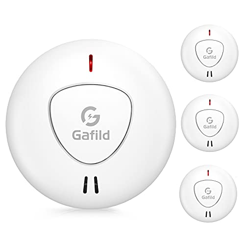 Gafild 3er Set Rauchmelder mit 10 Jahren Batterielaufzeit und Intelligentem Feueralarm, Rauchwarnmelder Feuermelder mit Fotoelektrischem Sensor, TÜV und DIN EN 14604 Geprüfter