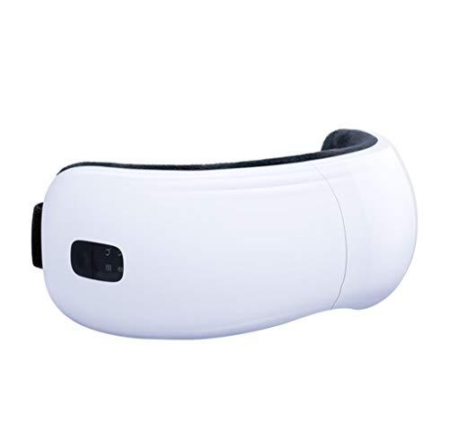 Gafas de masaje portátil con masajeador de terapia ocular recargable calefacción-aire de compresión-vibraciones de la música puede aliviar la fatiga ocular, los círculos oscuros bajo los ojos, ojos se