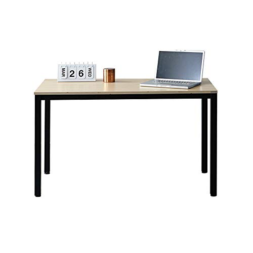 "SOFSYS 55.1"" Multi-Functional Computer Desk Workstation Table, Industrial Home Office Design for Writers, Video Gaming, Designers and Entrepreneurs, Large Desktop with Metal Frame, Oak/Black"