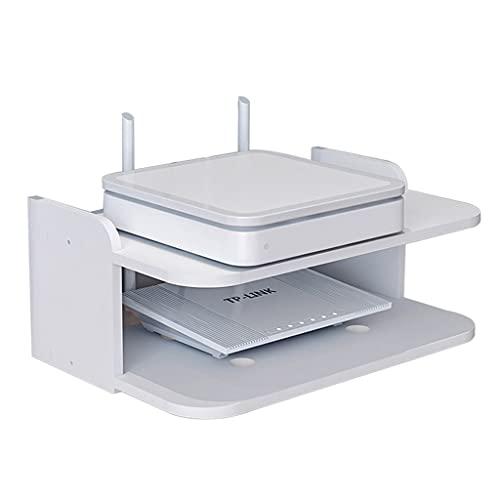 Caja De Almacenamiento WiFi Montada En La Pared Soporte para Decodificador De TV Caja De Almacenamiento para Enrutador Sin Perforaciones Soporte para Proyector En Rack Montado En La Pared