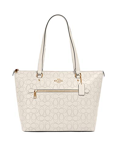Coach Gallery Tote in Signature Leather - #1499 - Chalk