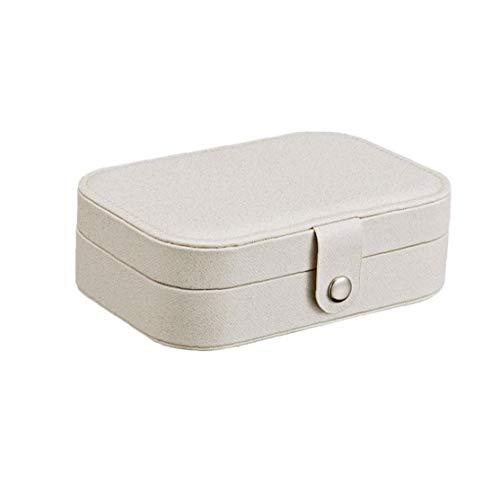 ZYCX123 Caja de Almacenamiento Caja de Recuerdo para los Viajes Collar de Anillos aretes Portable de la joyería Organizador del Caso de exhibición de Almacenamiento con Compartimento Organizador par