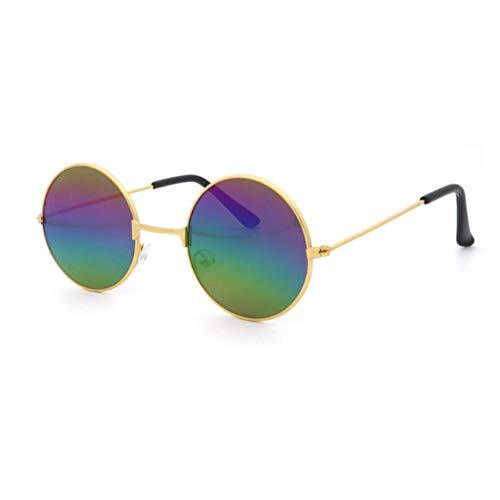 niño niña aleación redonda gafas de sol niño Metal Gafas de sol Vintage círculo gafas de sol bebé blinkers moda gafas marca diseñador