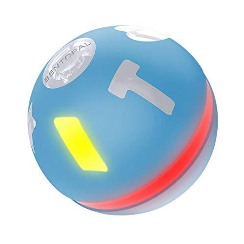 lliang Katzenball Pet Elektrospielzeug intelligente Induktion Antrieb Haustier Spielzeugball Katzenspielzeug aktive Sprungball USB-Aufladung LED rollende Flash-Speicher automatische Rolle