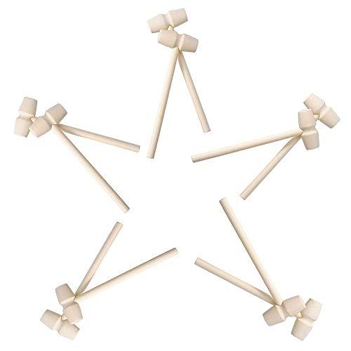10 Pezzi Mini martello di legno Martelli da granchio Mazzuole di granchio di aragosta Mazzuola in legno per granchio Maglio di Legno di Granchio per Frutti di Mare Aragosta Strumento Artigianato