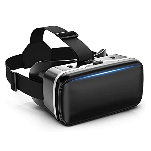 VR Headset, VR 3D Virtual Reality Headset for Movies and Games VR Glasses Goggles Compatible with iPhone & Android Phone, 2K Anti-Blue Lenses, Adjustable Pupil & Object Distance, Lightweight