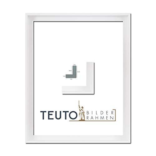 TEUTO BILDERRAHMEN Echtholz Leinwandrahmen Jana Weiß 40 x 60 cm ohne Verglasung/Keilrahmen Schattenfuge