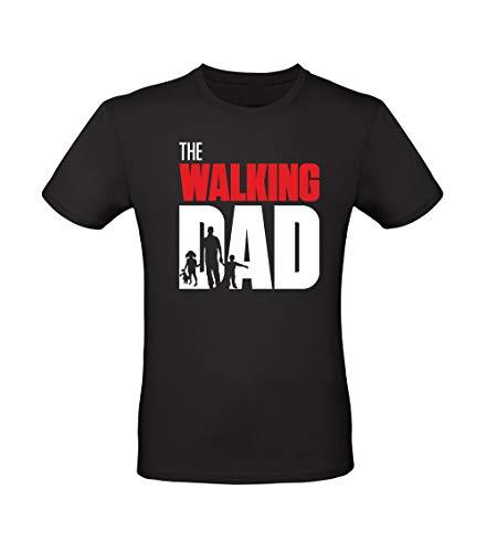 Fashion Graphic T-Shirt Uomo The Walking Dad (L, Nero)