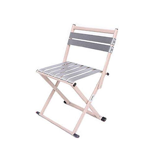 JXDD Fishing Chair Folding Chair Portable Folding Small Mazar Small Bench Outdoor Household Small Bench (backrest Trumpet) 10-24 (Color : C)