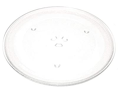 "12.5"" GE and Samsung -Compatible Microwave Glass Plate/Microwave Glass Turntable Plate Replacement - 12 1/2"" Plate, Equivalent to G.E. WB39X10002 and WB39X10003"