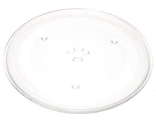 "12.5"" GE and Samsung -Compatible Microwave Glass Plate / Microwave Glass Turntable Plate Replacement - 12 1/2"" Plate, Equivalent to G.E. WB39X10002 and WB39X10003"