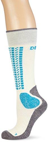 Devold Damen Wintersocken Alpine Socks, White/Aqua, 37