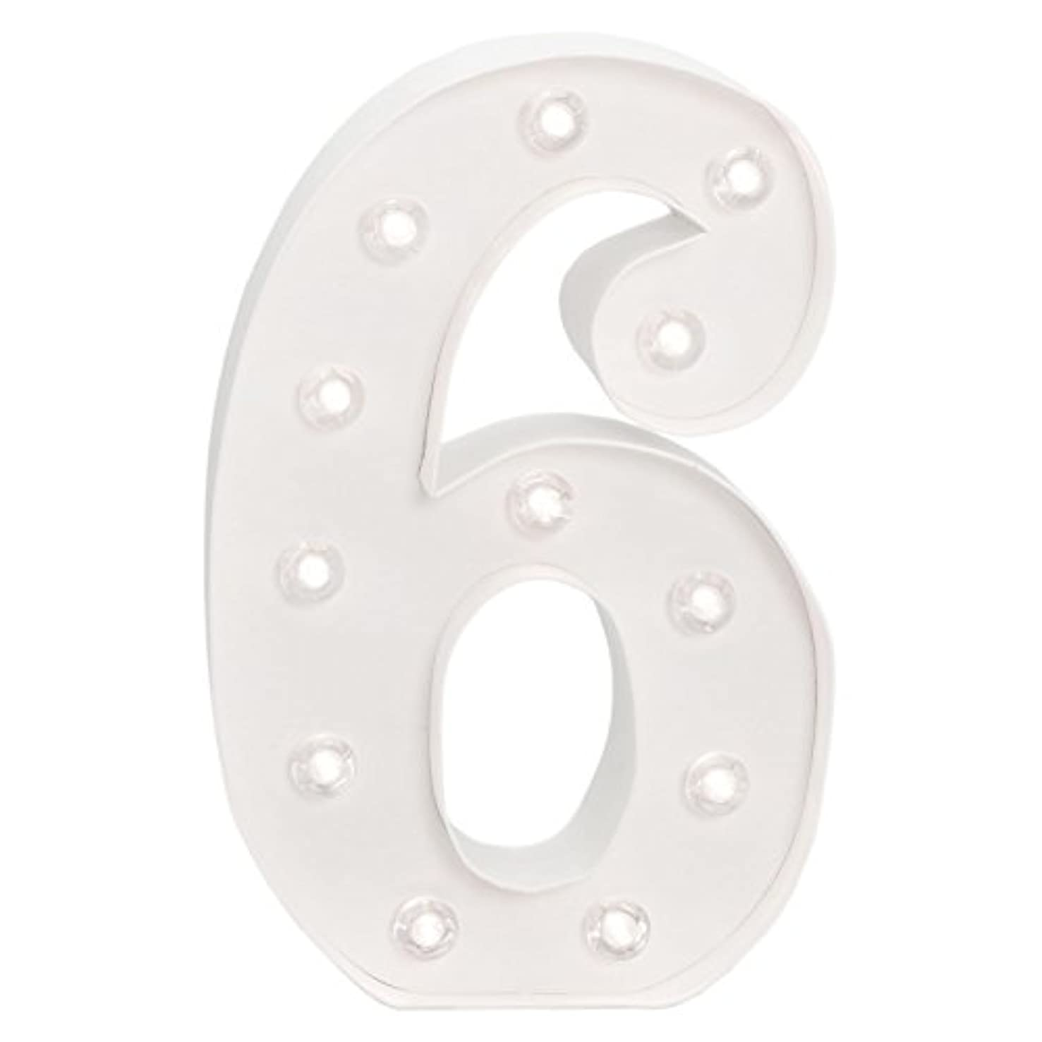 American Crafts Heidi Swapp 10 Inch Marquee Letters Number 6