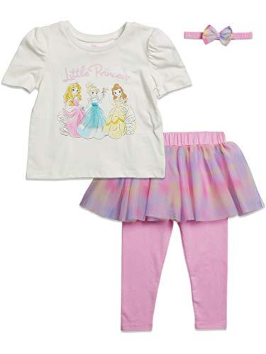 Disney Princesses Toddler Girls Costume Short Sleeve Ruffled Legging Set 5T