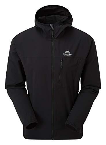 Mountain Equipment M Echo Hooded Jacket Schwarz, Herren Softshelljacke, Größe L - Farbe Black