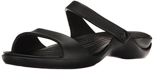 Crocs Cleo V W, Sandalias con Punta Abierta para Mujer, Negro (Black/Black), 36/37 EU