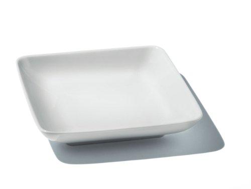 Alessi Fs11 3x3 Programma 8 Assiette Creuse en Porcelaine Blanche, Set de 4 Pièces