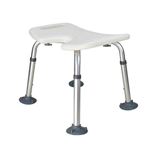 Bath & Shower Aids, Shower Bath Seat with Armrest, Portable Medical Shower Bench Bath Chair with Non-Slip Safety Mats, Lightweight, 7 Height Adjustable, Great for Bathroom,B