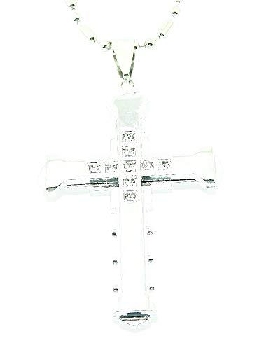 Kruis ketting voor man - man en vrouw - kruisbeeld - kruis - christus - jezus - glitter - zilver - kerstmis - origineel cadeau idee strass