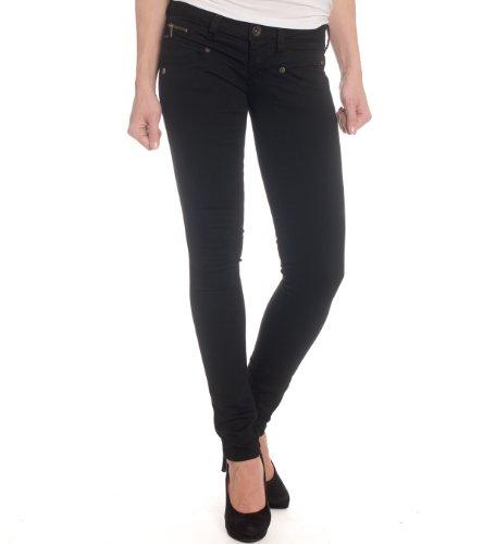 FREEMAN T.PORTER Alexa Super Stretch, Pantalones para mujer, color negro (black), talla W28 (Talla fabricante: M)