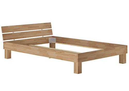Erst-Holz® Futonbett Französisches Bett Doppelbett 140x200 Buche-Bettgestell massiv ohne Zubehör 60.86-14 oR