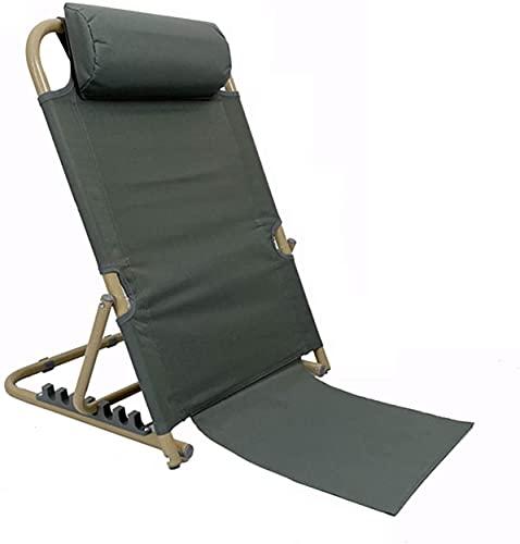Chilequano Silla Lazy Sofa Lounge con Silla de Respaldo Plegable Ligero, Asiento Ajustable con Soporte Trasero para Acampar de meditación de Estadio, diseño de Almohada de Cabeza (Color : G)